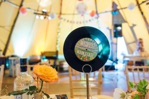 vinyl record wedding table name
