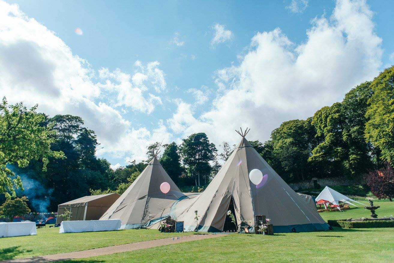 wedfest festival wedding teepee tent