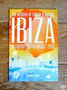 ibiza holiday brochure wedding invitation
