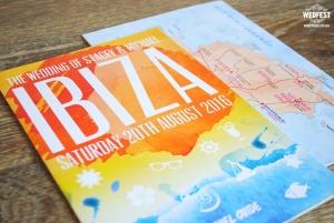 ibiza travel brochure wedding invite