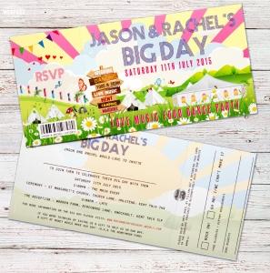 our big day festival wedding invitation