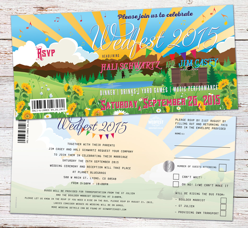 Summer Themed Wedding Invitations Wedfest