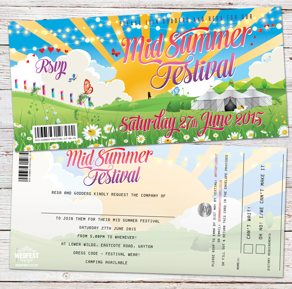 summer festival party invitation