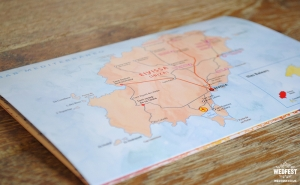 travel destination wedding invite map