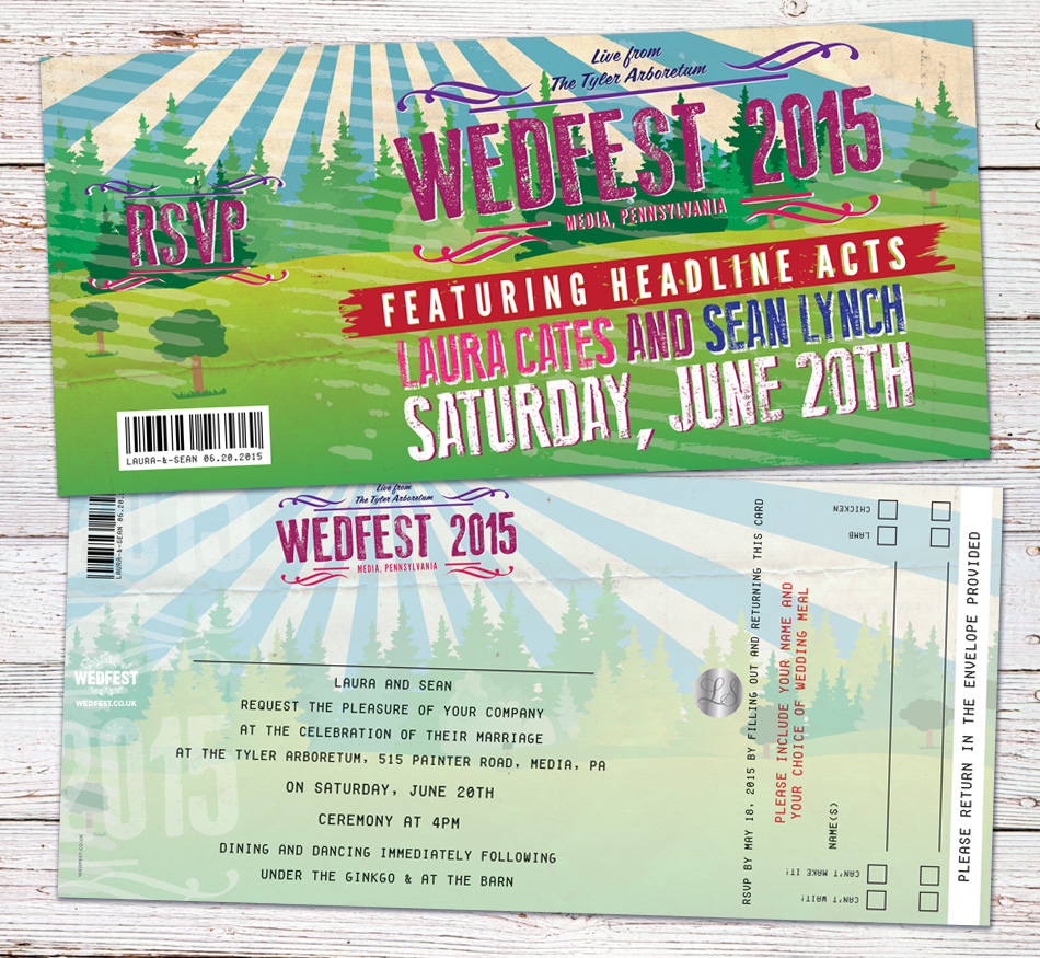 tyler arborteum wedfest wedding invitation