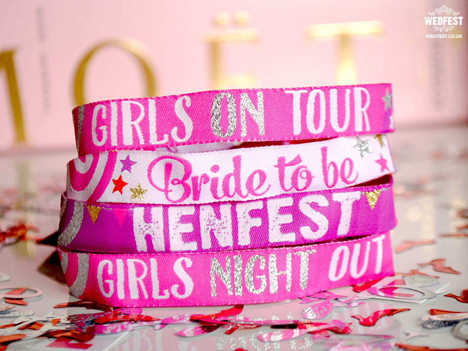 wedfest henfest and hen party wristbands
