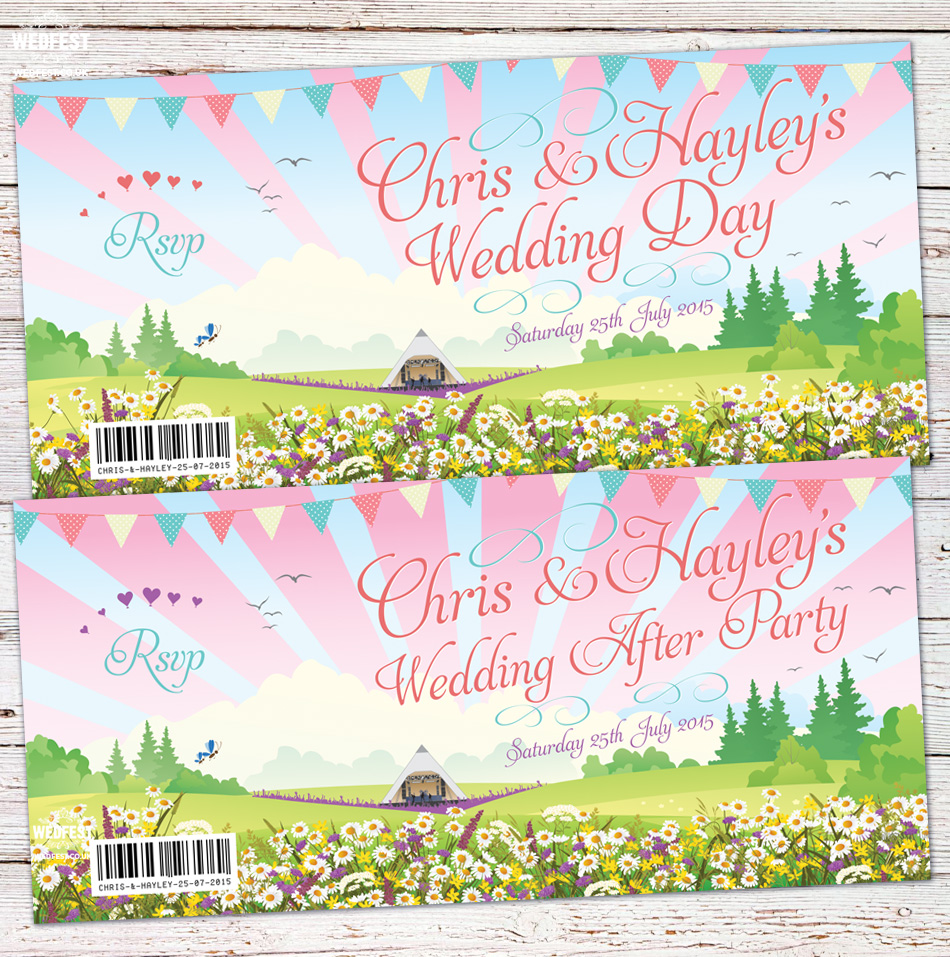 Chris & Hayley's Boho Festival Wedding Invite