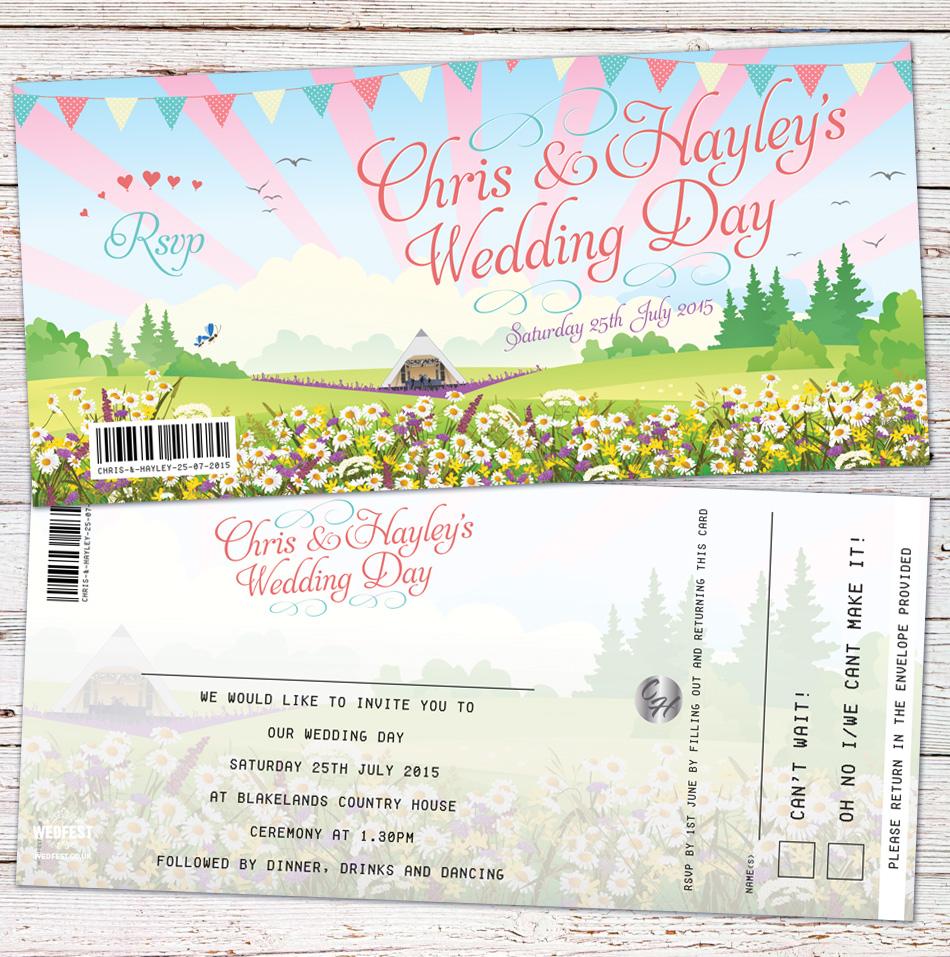 pastel wedfest festival wedding