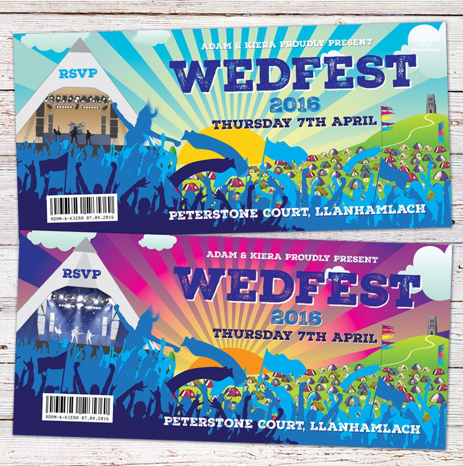 wedfest festival wedding invite