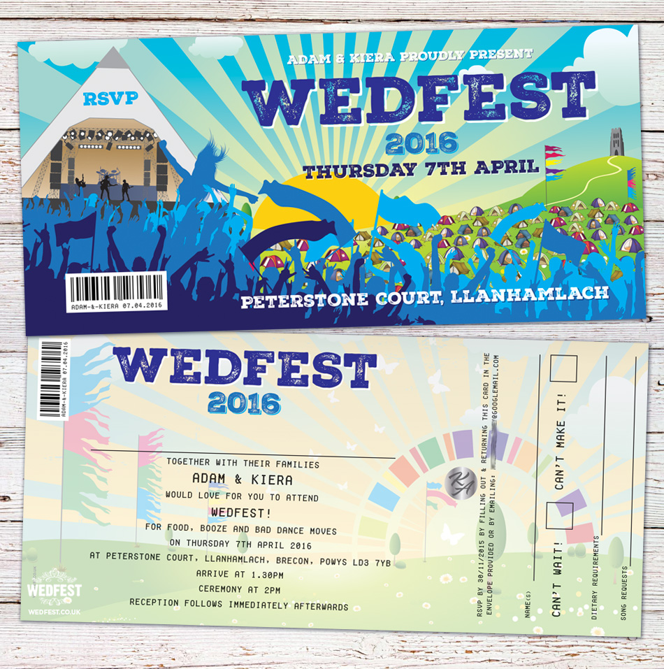 wedfest wedding invitation