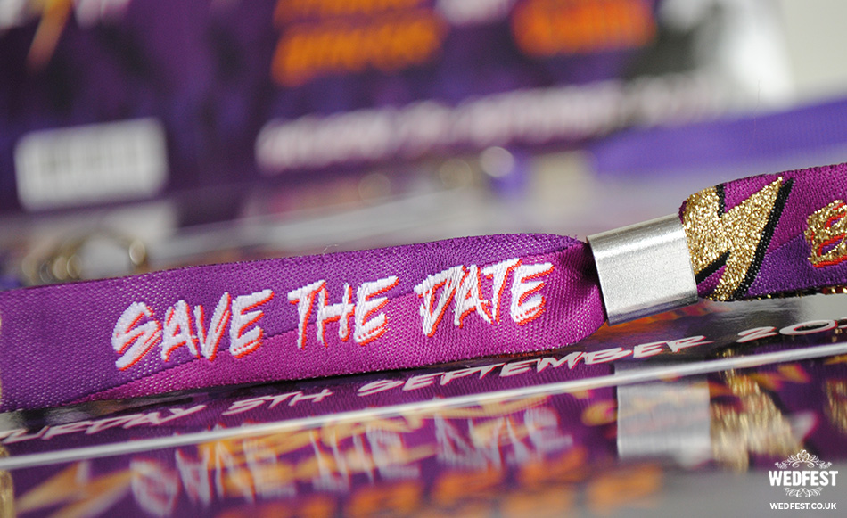 custom wedding save the date wristbands
