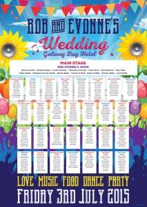 galway bay hotel festival wedding table plan