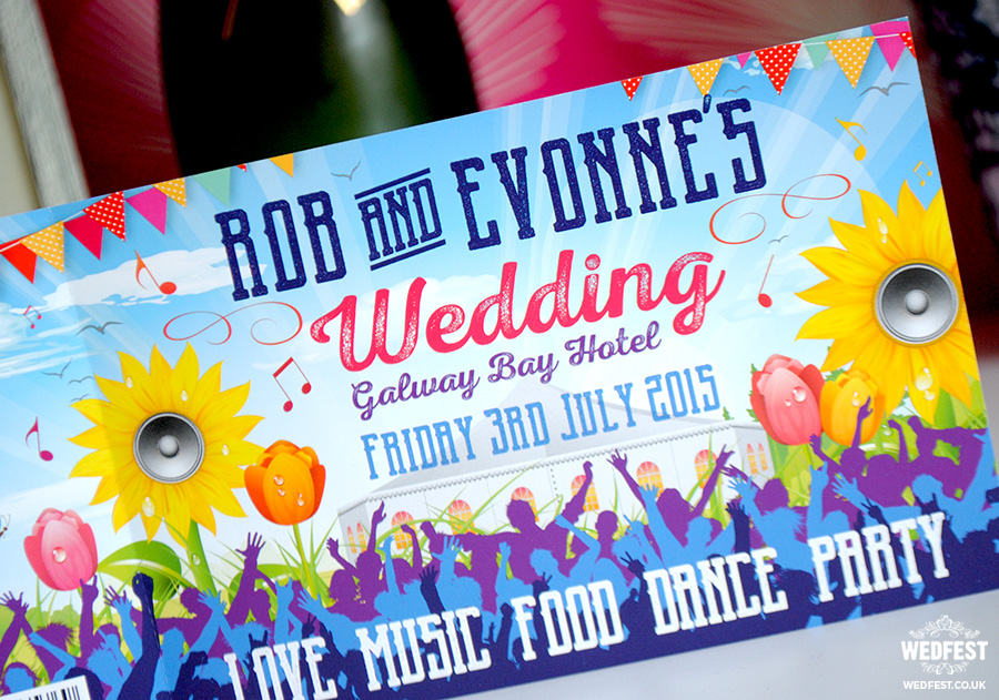 galway bay hotel wedding invite