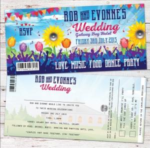 irish festival wedding invitations