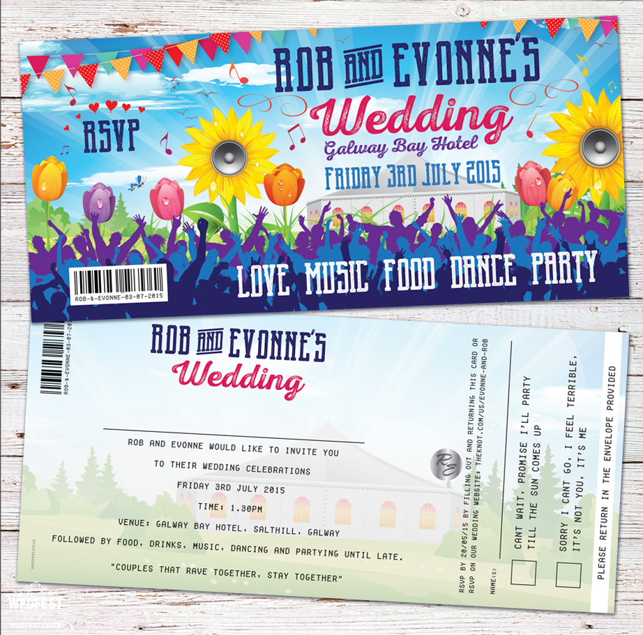 irish festival wedding invitations