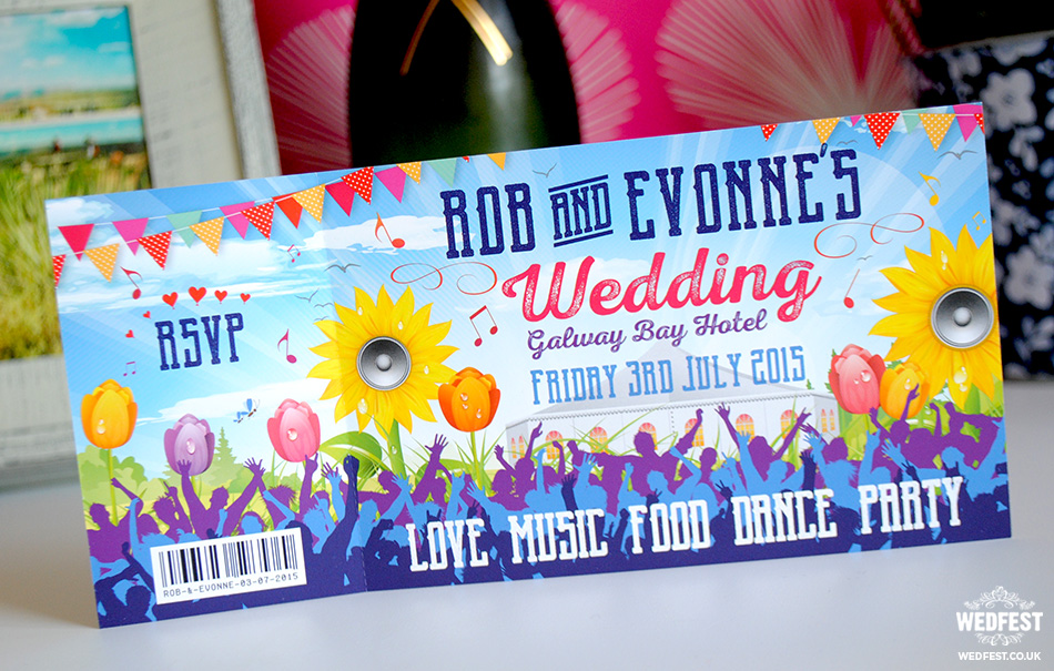 irish festival wedding invites