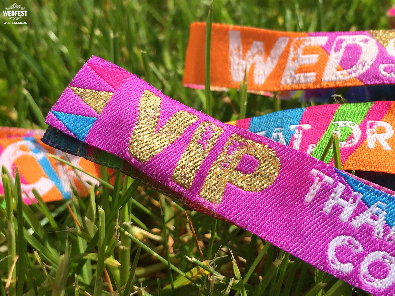 vip wedding wristbands