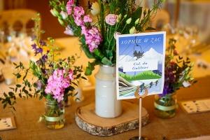 wedding table card decor