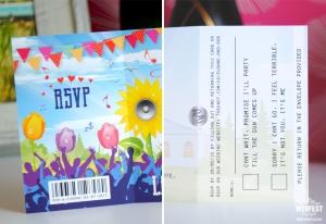 wedding ticket Invitation rsvp card