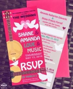 woodstock wedstock wedding invites