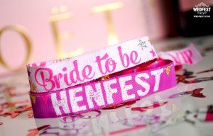 bride to be hen doo wristband