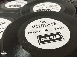 custom vinyl record wedding table name