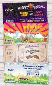 festival boho wedfest rock n roll wedding invites