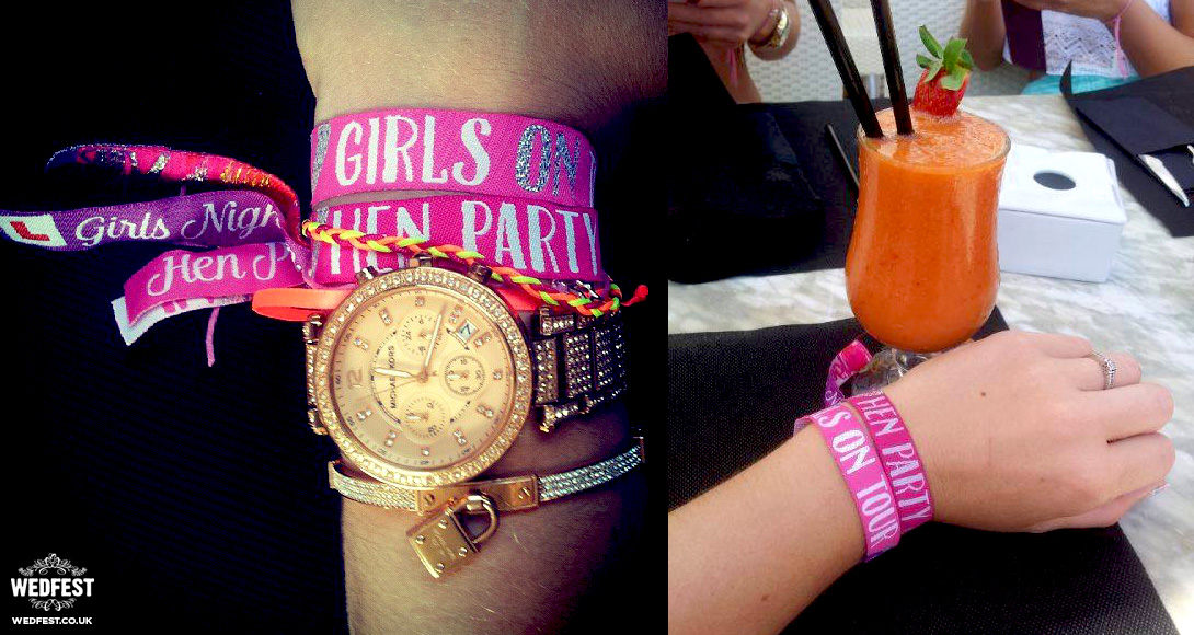 hen doo weekend wristbands