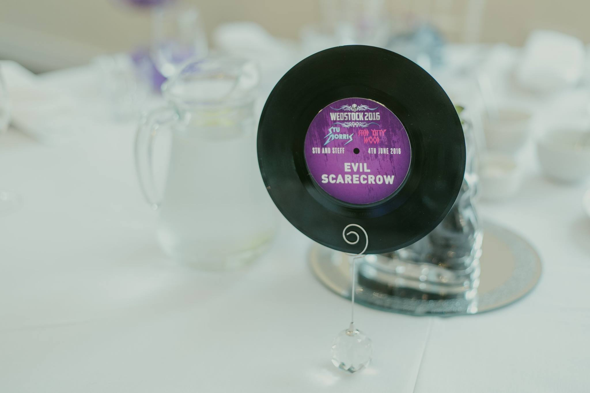 rock n roll wedding vinyl record table name