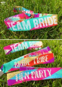 team bride - bride tribe - hen-party wristbands