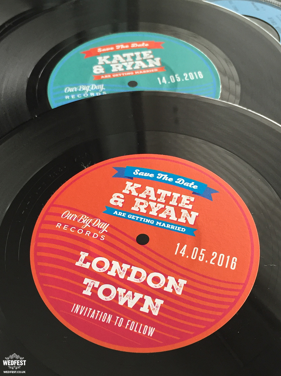 vinyl records wedding invites