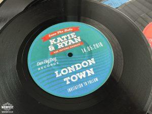 vinyl records wedding save the date