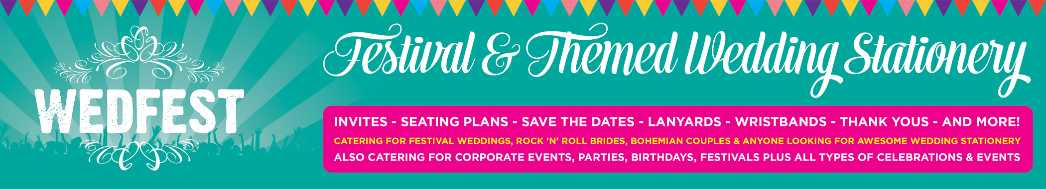 WEDFEST – Festival Themed Wedding Stationery Retina Logo