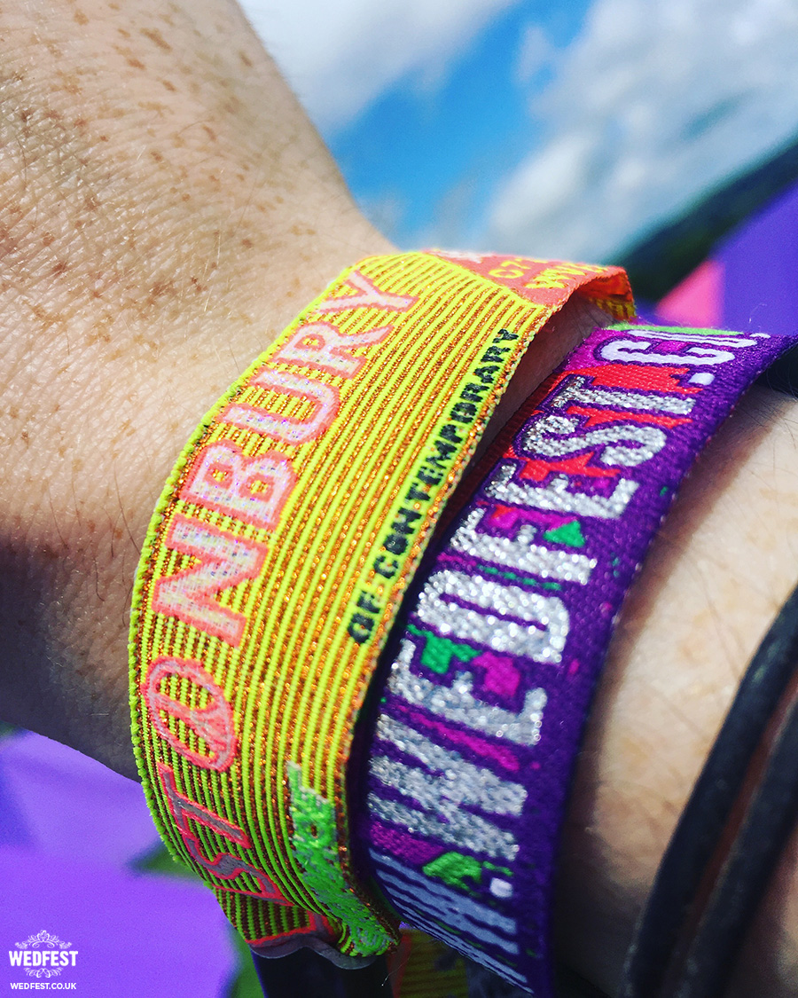 wedfest festival wedding wristbands glastonbury