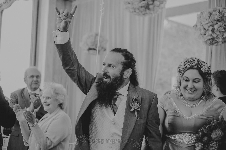 wedstock rocker wedding