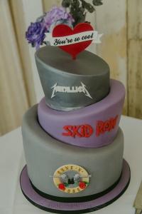 wedstock rockn n roll wedding cake
