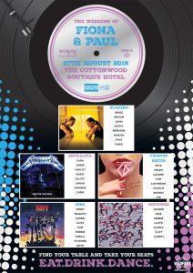 7 inch vinyl record wedding table plan