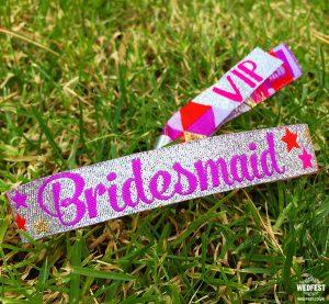 bridesmaid hen party wristbands