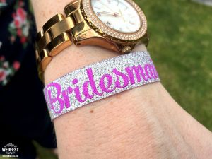 bridesmaid hens party wristband