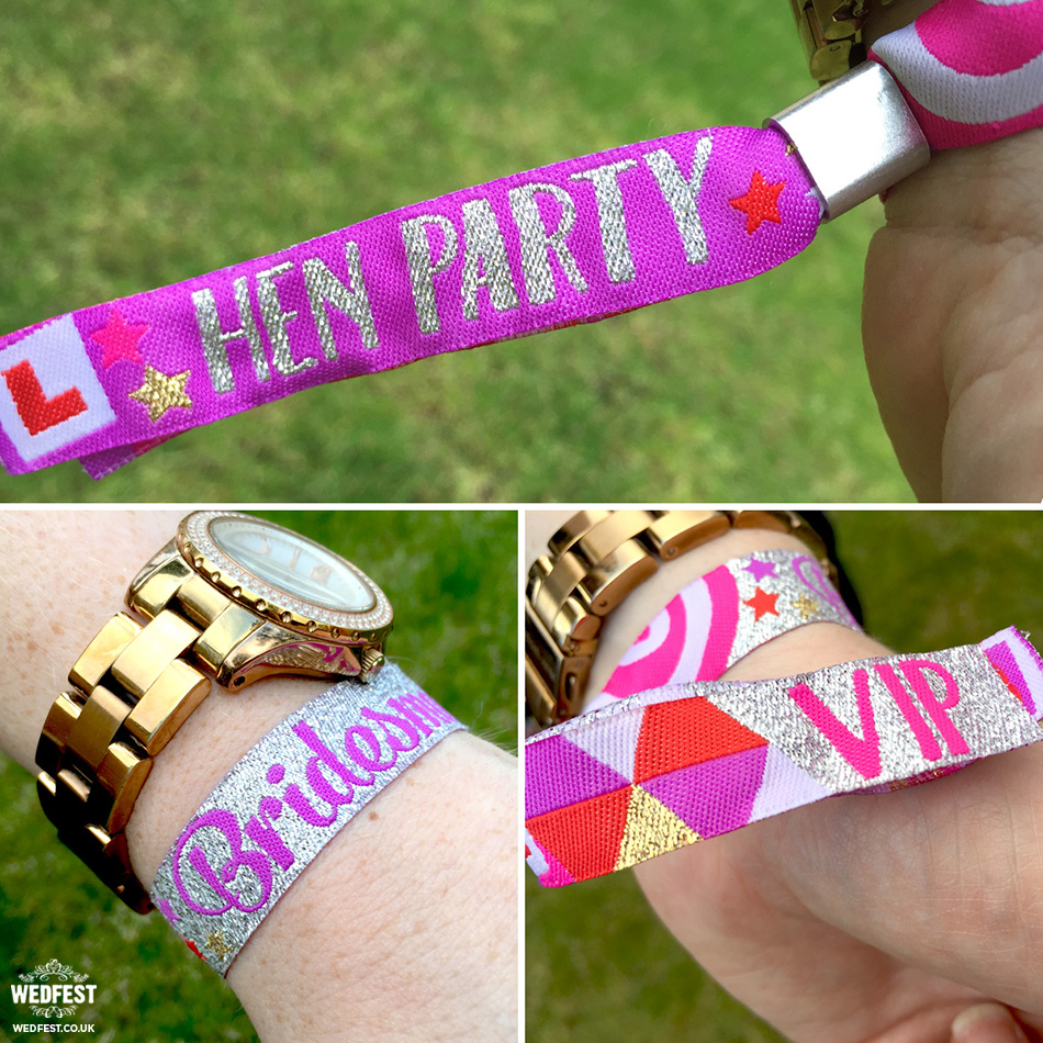 bridesmaids hen party henfest wristband