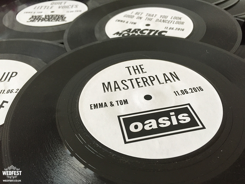 personalised vinyl record wedding table names