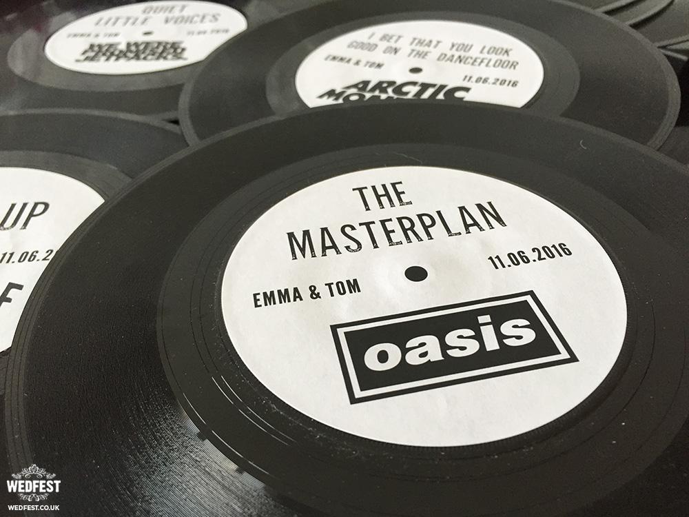 personalised vinyl record wedding table names