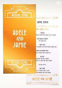 the great gatsby theme wedding menu