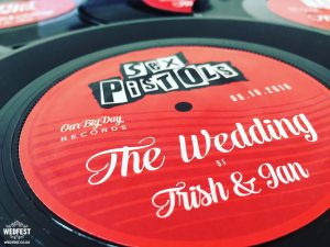 wedding table name number vinyl record