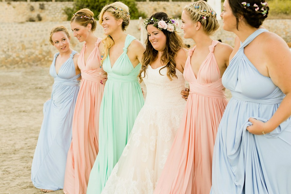 ibiza wedding bridesmaids