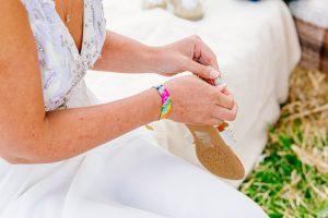 festival bride wedding wristbands