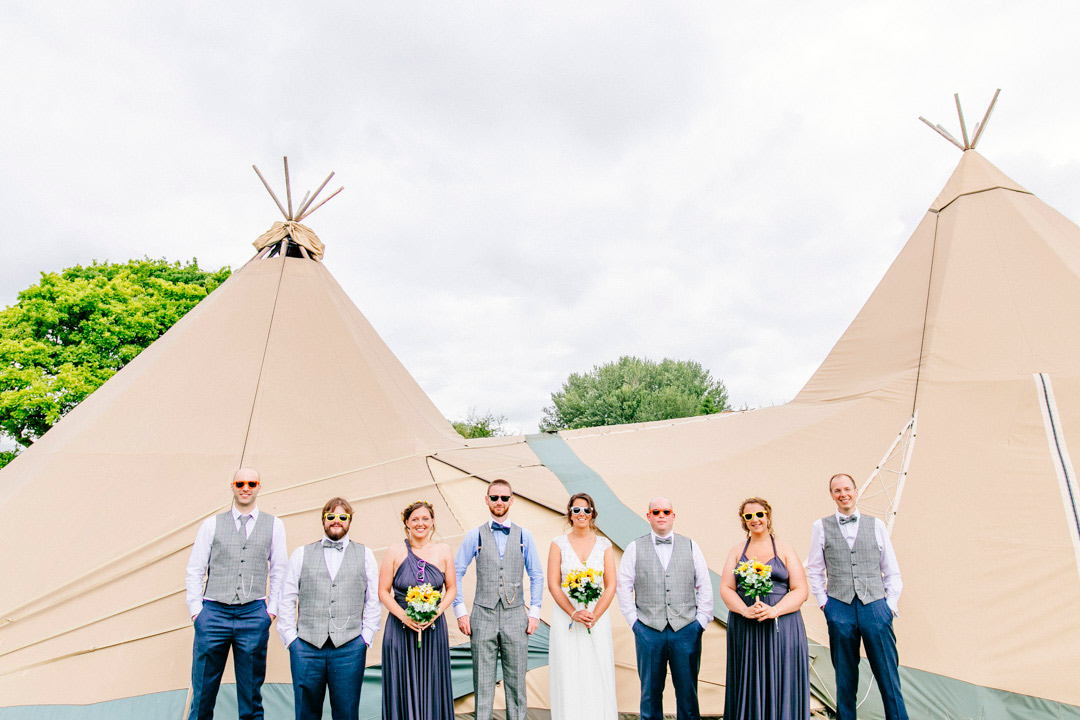 glastonbury themed festival wedding