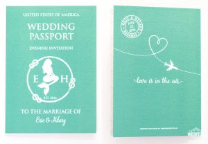 united states of america passport wedding invitation