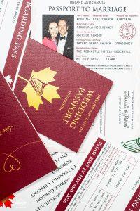 wedding passport invitation boarding pass