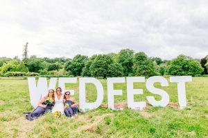 wedfest sign